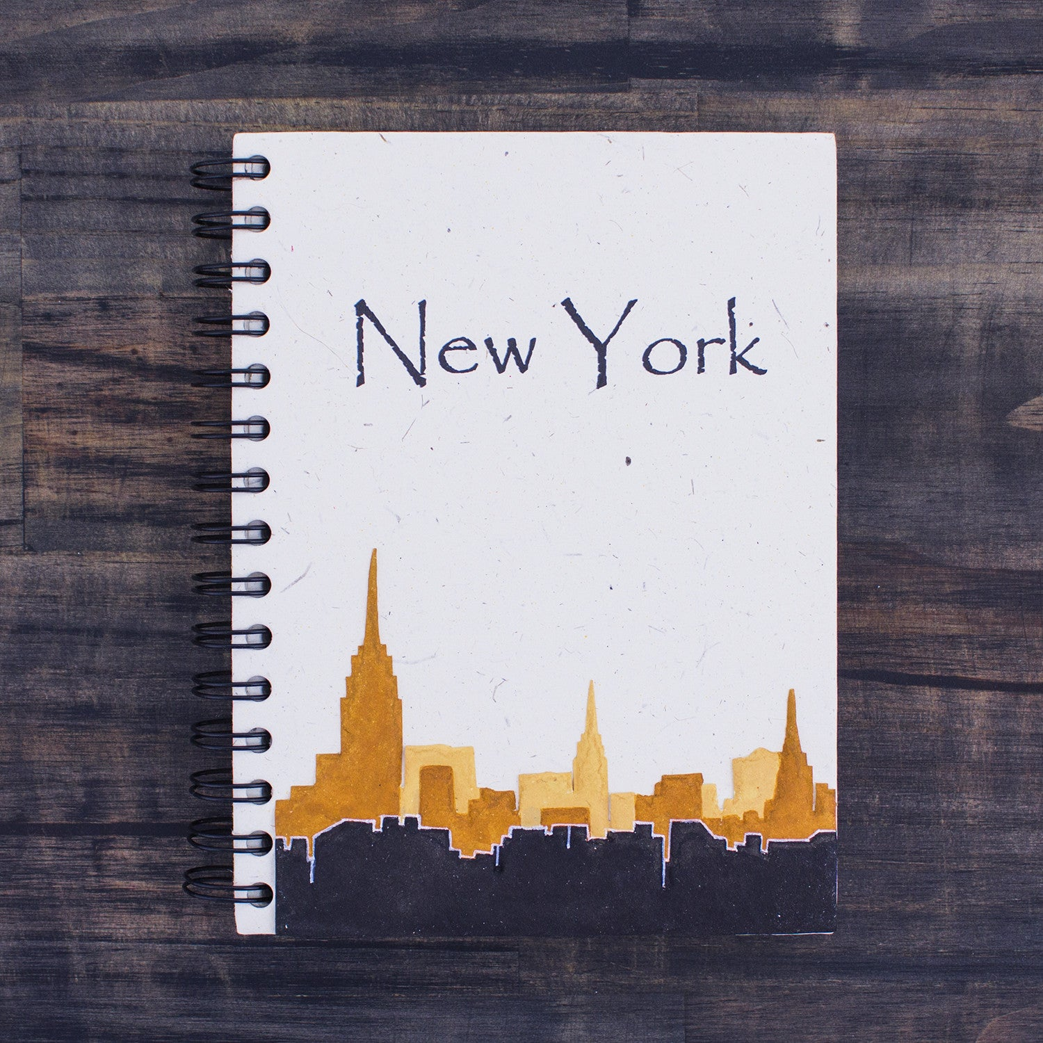 Large Notebook NYC Skyline Natural White