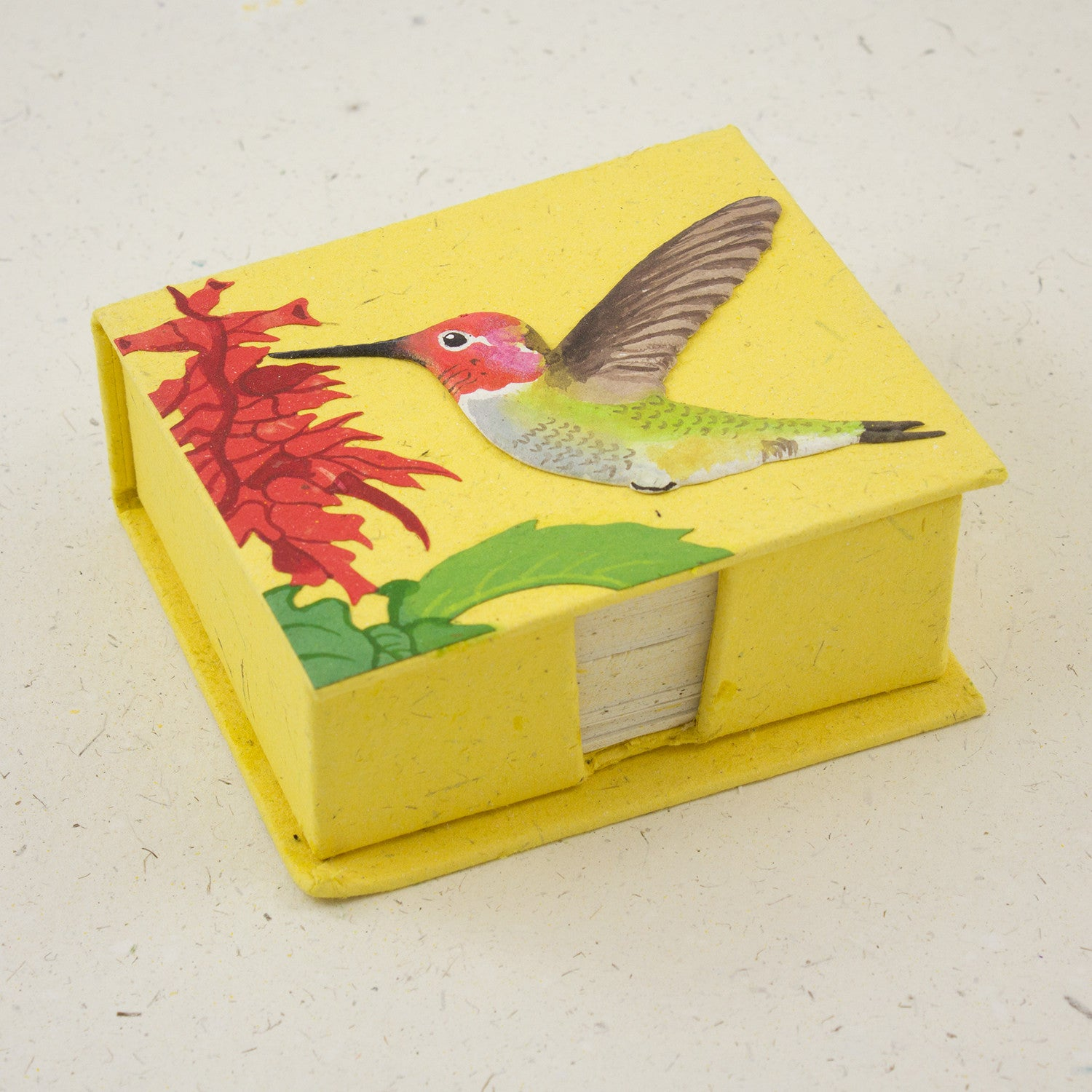 Note Box Hummingbird Yellow