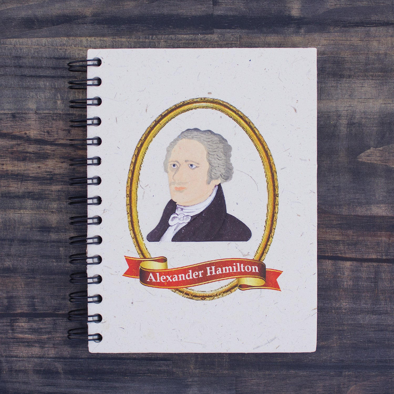 Large Notebook Alexander Hamilton Natural White