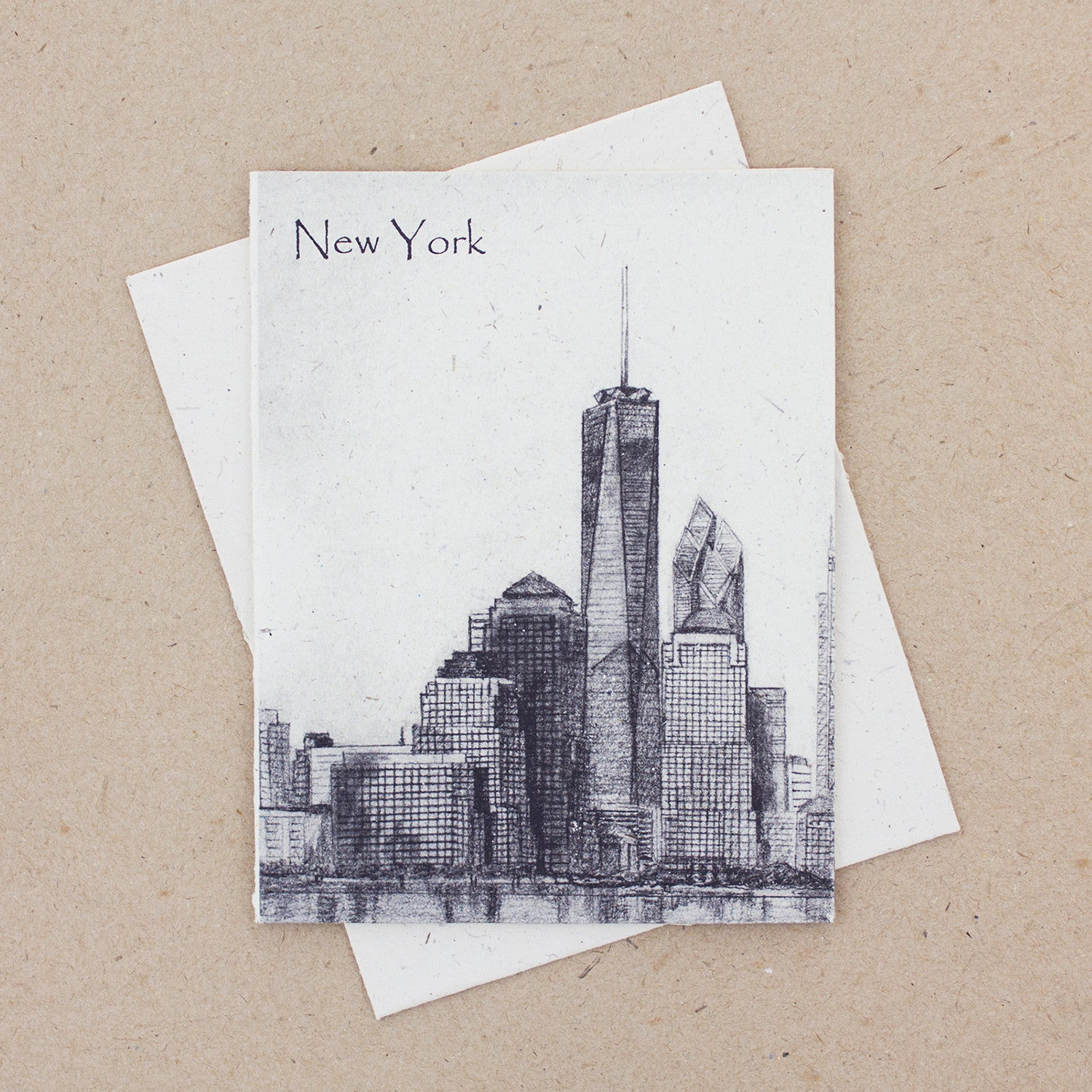 Single Greeting Card NYC Downtown Sketch