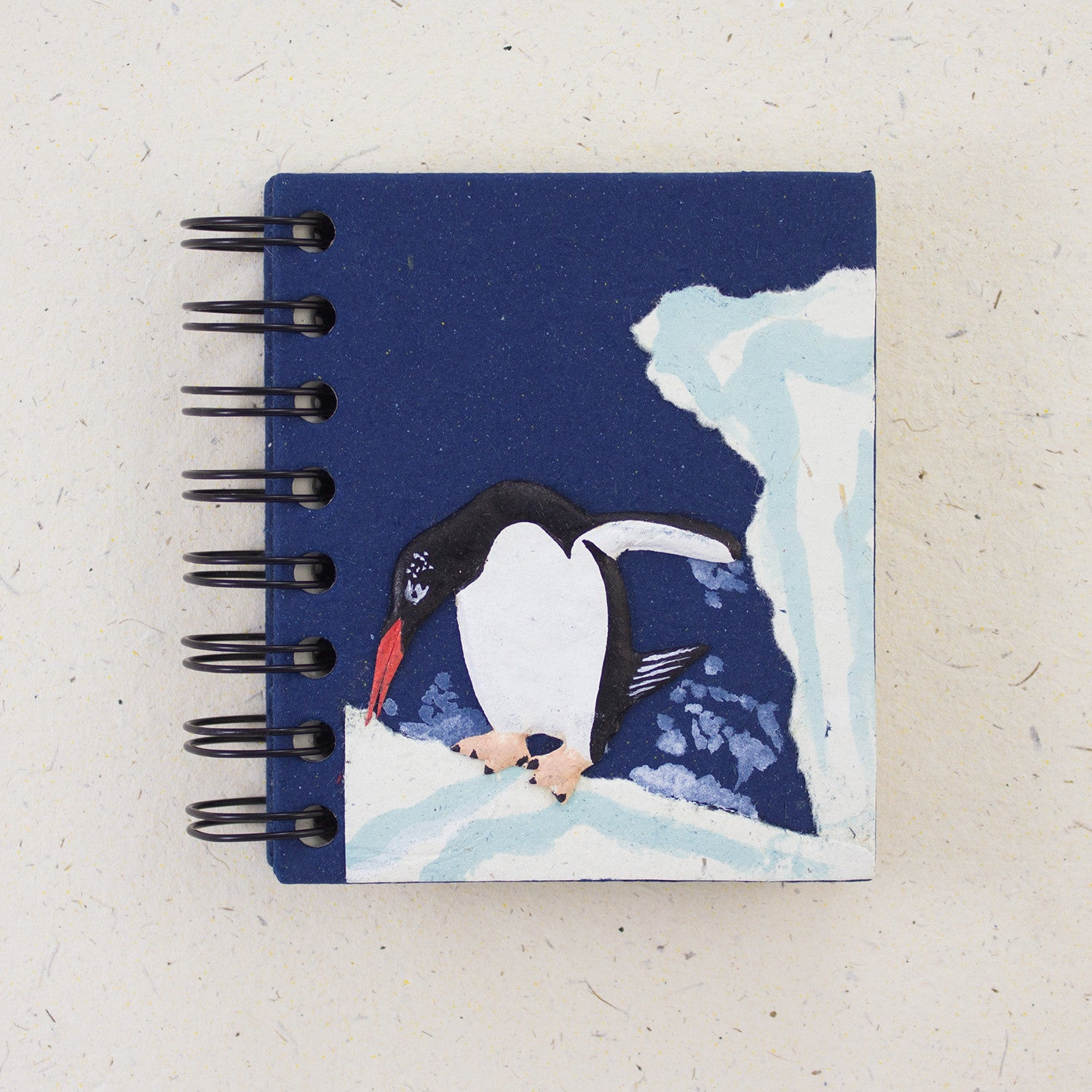 Small Notebook Penguin Dark Blue