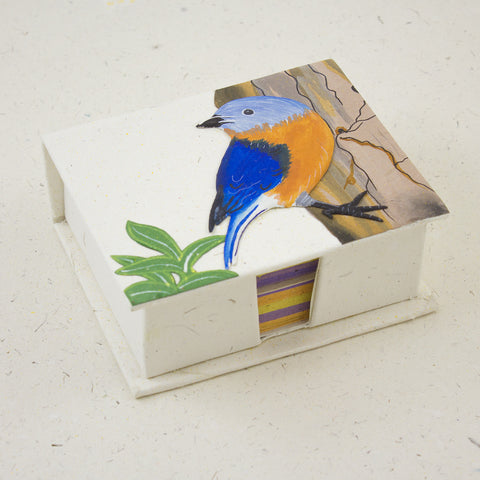 Note Box Bluebird Natural White