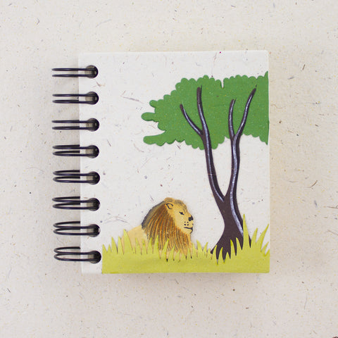 Small Notebook Lion Natural White