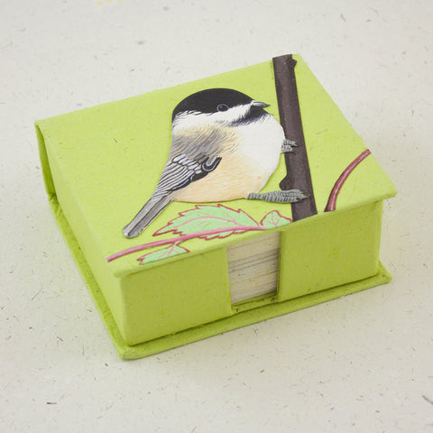 Note Box Chickadee Light Green