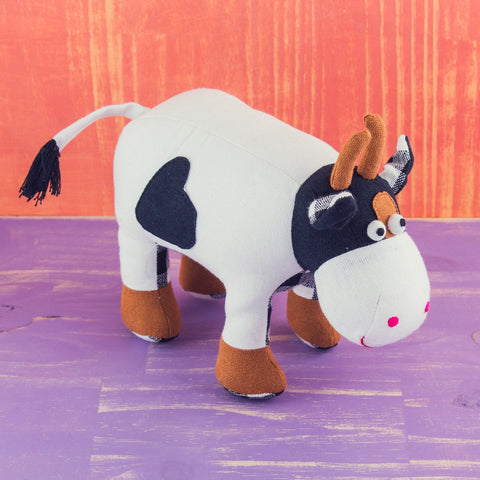 Fabric Plush Cow