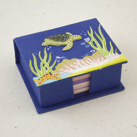 Note Box Sea Turtle Dark Blue