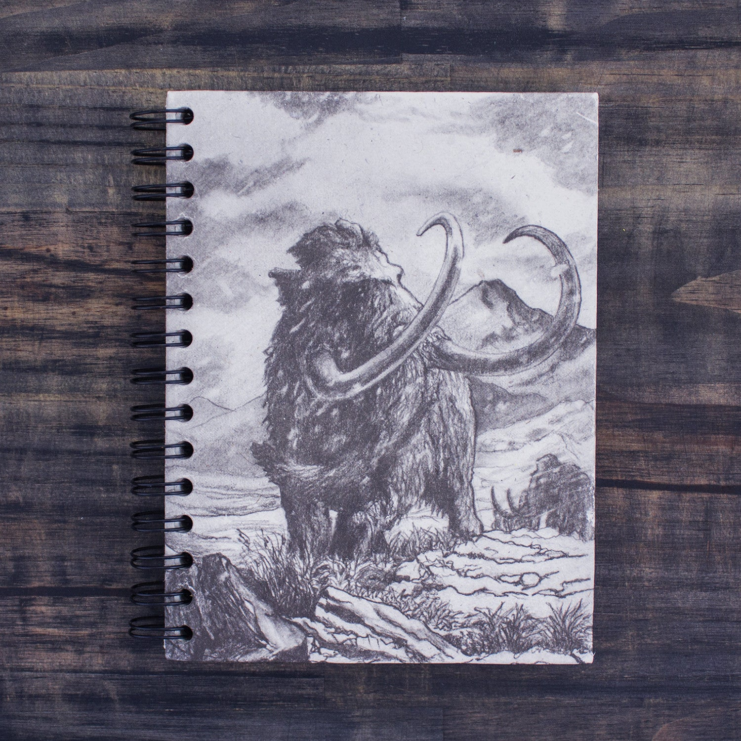 Large Notebook Woolly Mammoth Sketch