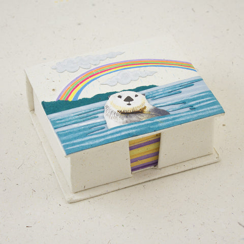 Note Box Sea Otter Natural White