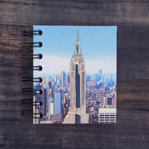 Small Notebook Empire State Building Embellished Print