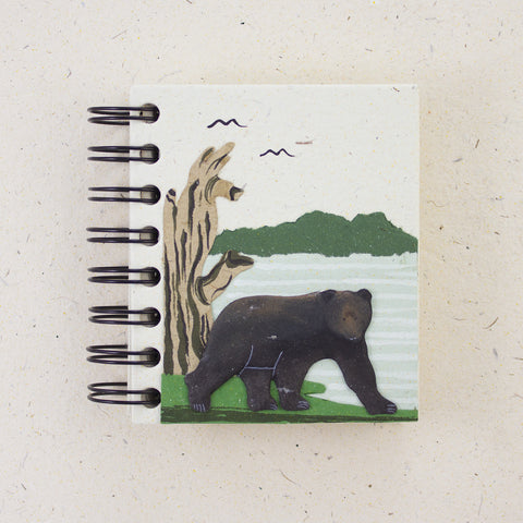 Small Notebook Bear Natural White