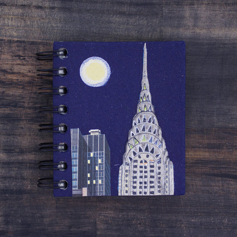 Small Notebook Chrysler Building Dark Blue