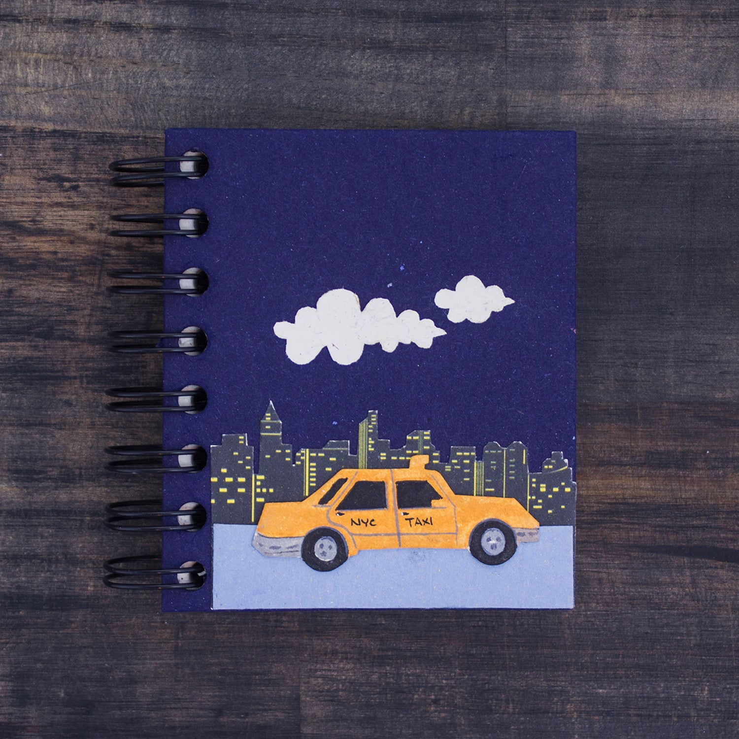 Small Notebook NYC Taxi Dark Blue