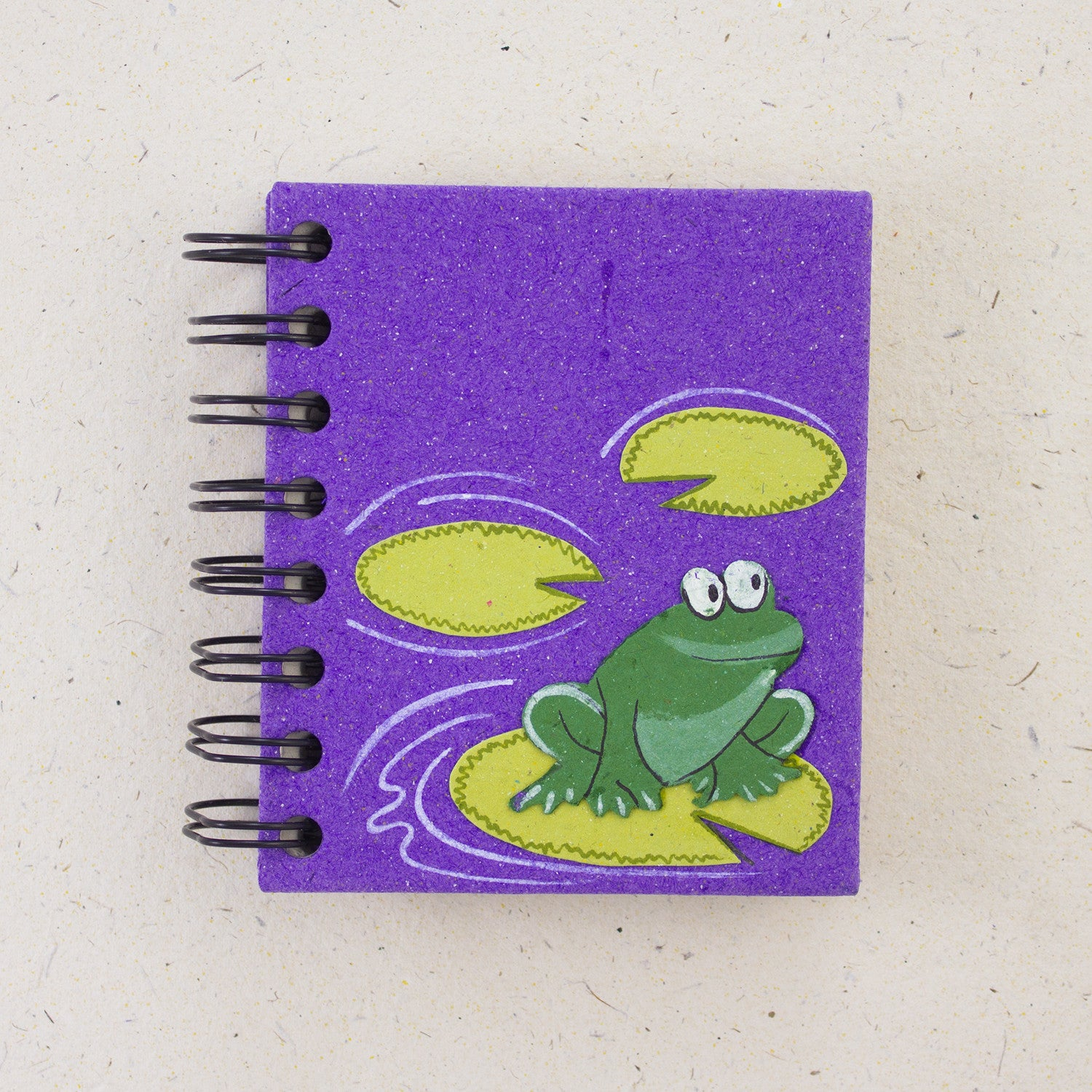Small Notebook Frog Purple