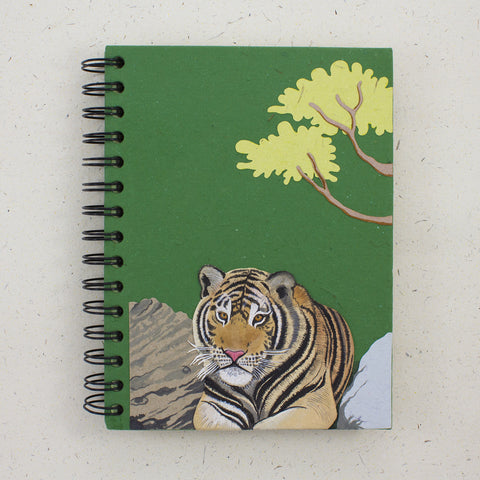 Large Notebook Tiger Dark Green