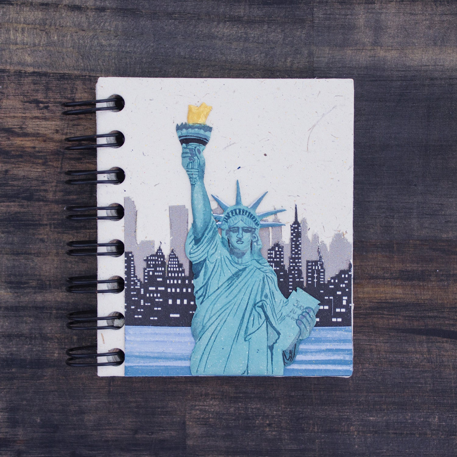 Small Notebook Statue of Liberty Natural White