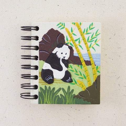 Small Notebook Panda Natural White
