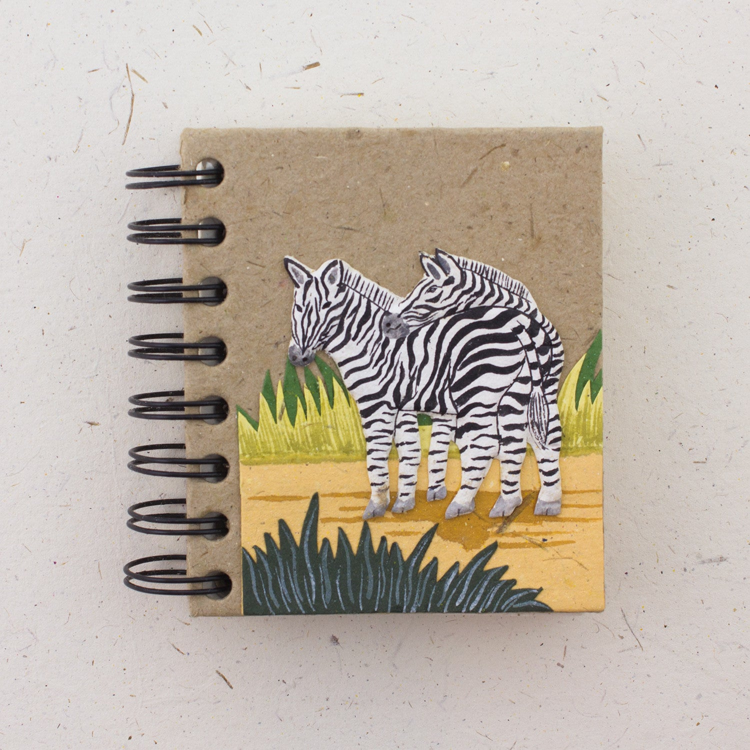 Small Notebook Zebras Natural Kraft