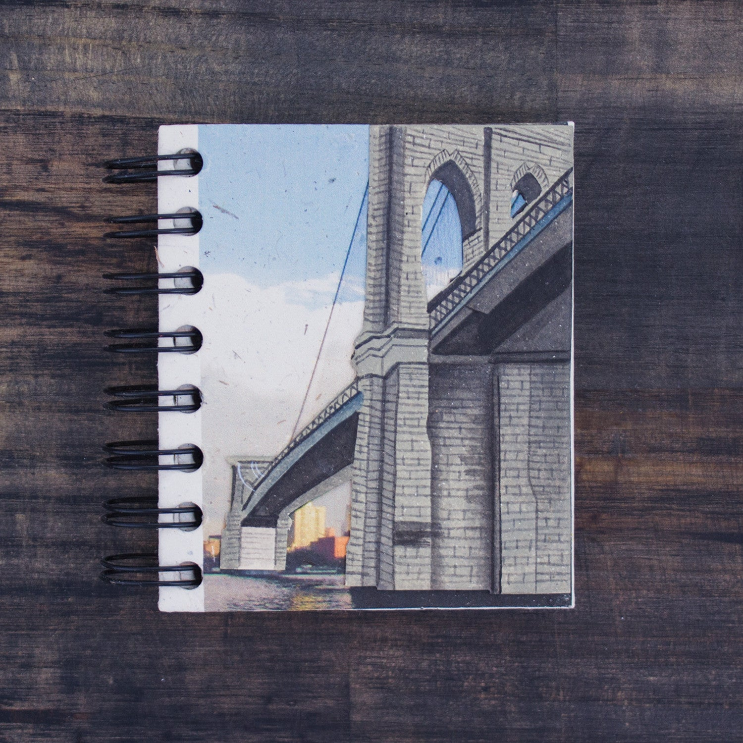 Small Notebook Brooklyn Bridge Embellished Print