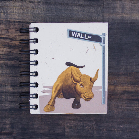 Small Notebook Wall Street Bull Natural White