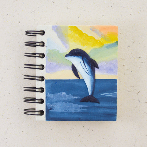 Small Notebook Dolphin Natural White
