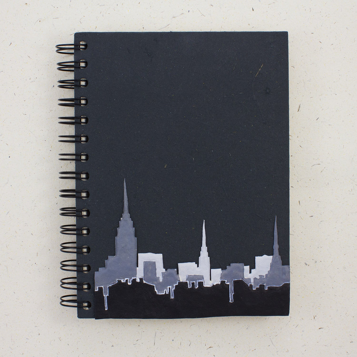 Large Notebook NYC Skyline Black
