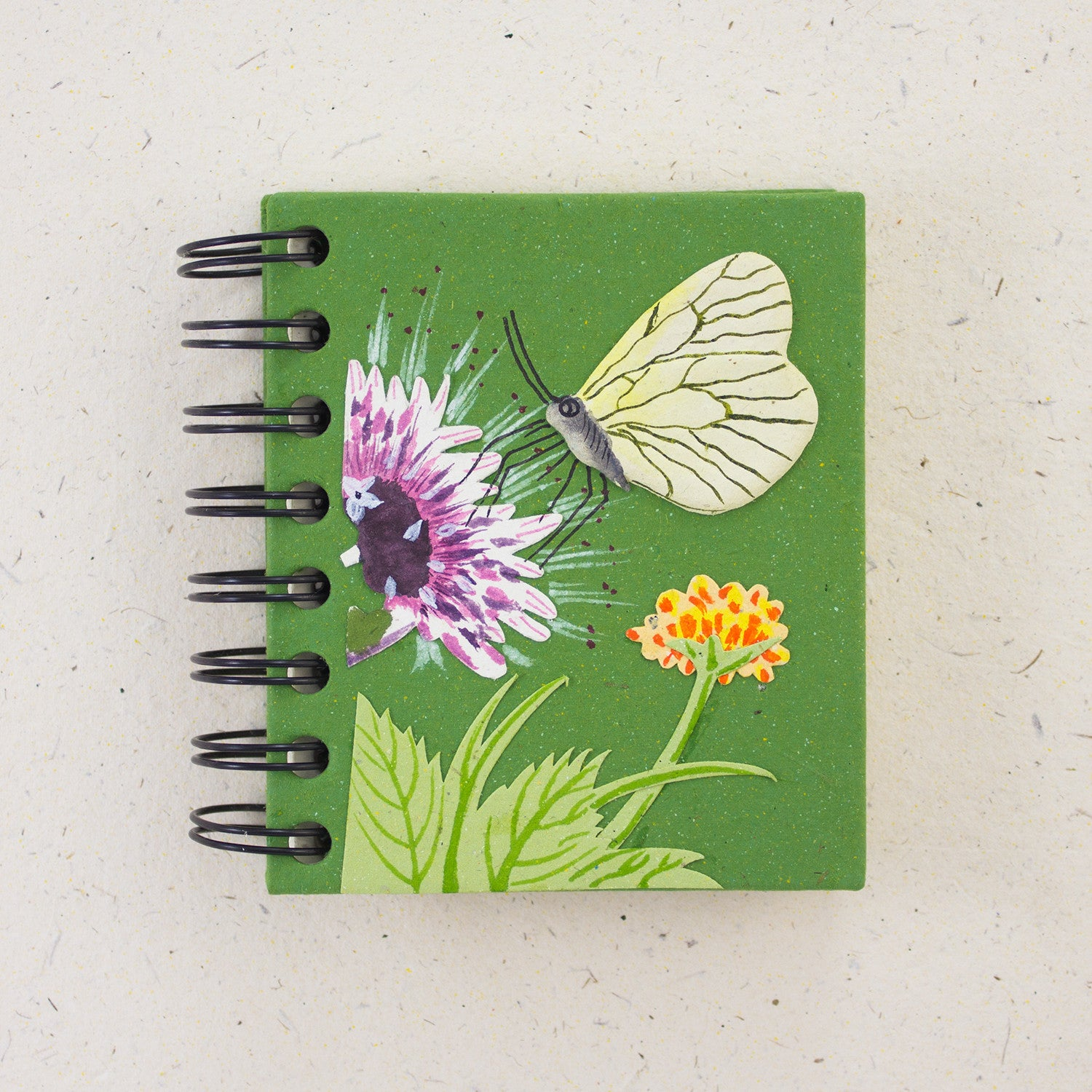Small Notebook Butterfly Dark Green