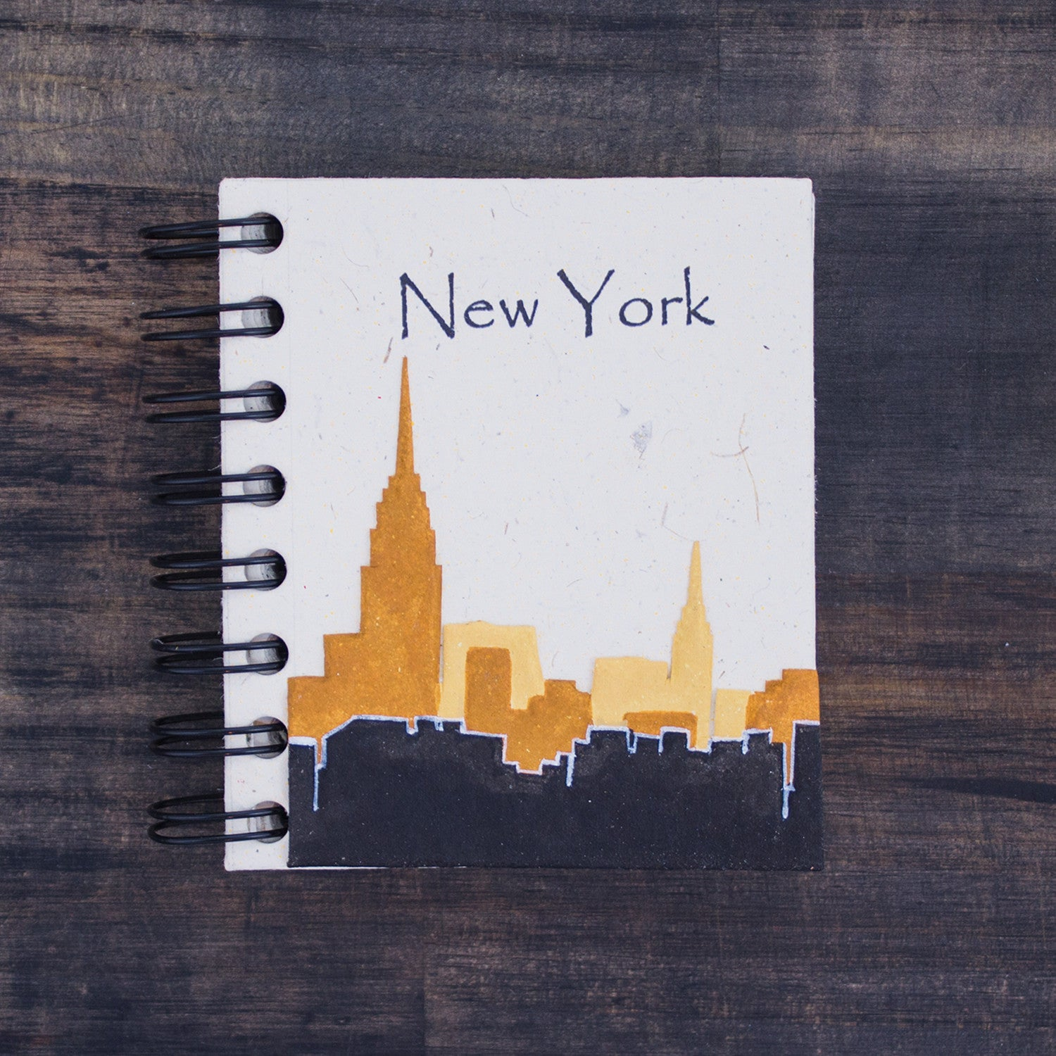 Small Notebook NYC Skyline Natural White