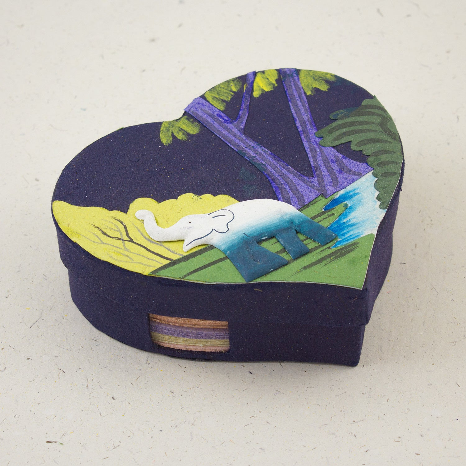 Heart-Shaped Note Box Dark Blue