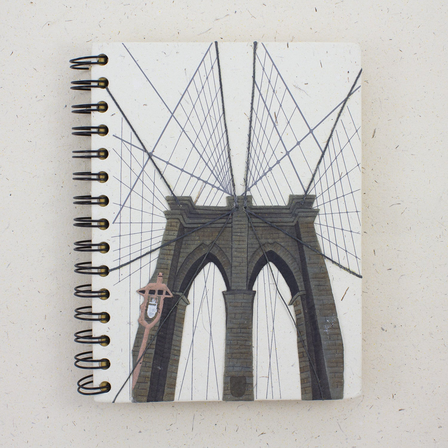 Large Notebook Brooklyn Bridge Natural White