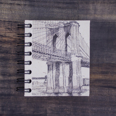 Small Notebook Brooklyn Bridge Sketch Natural White