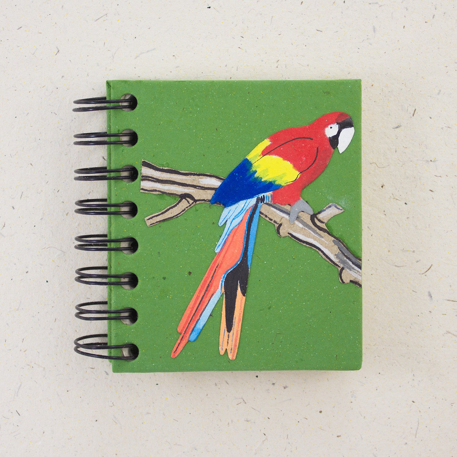 Small Notebook Parrot Dark Green