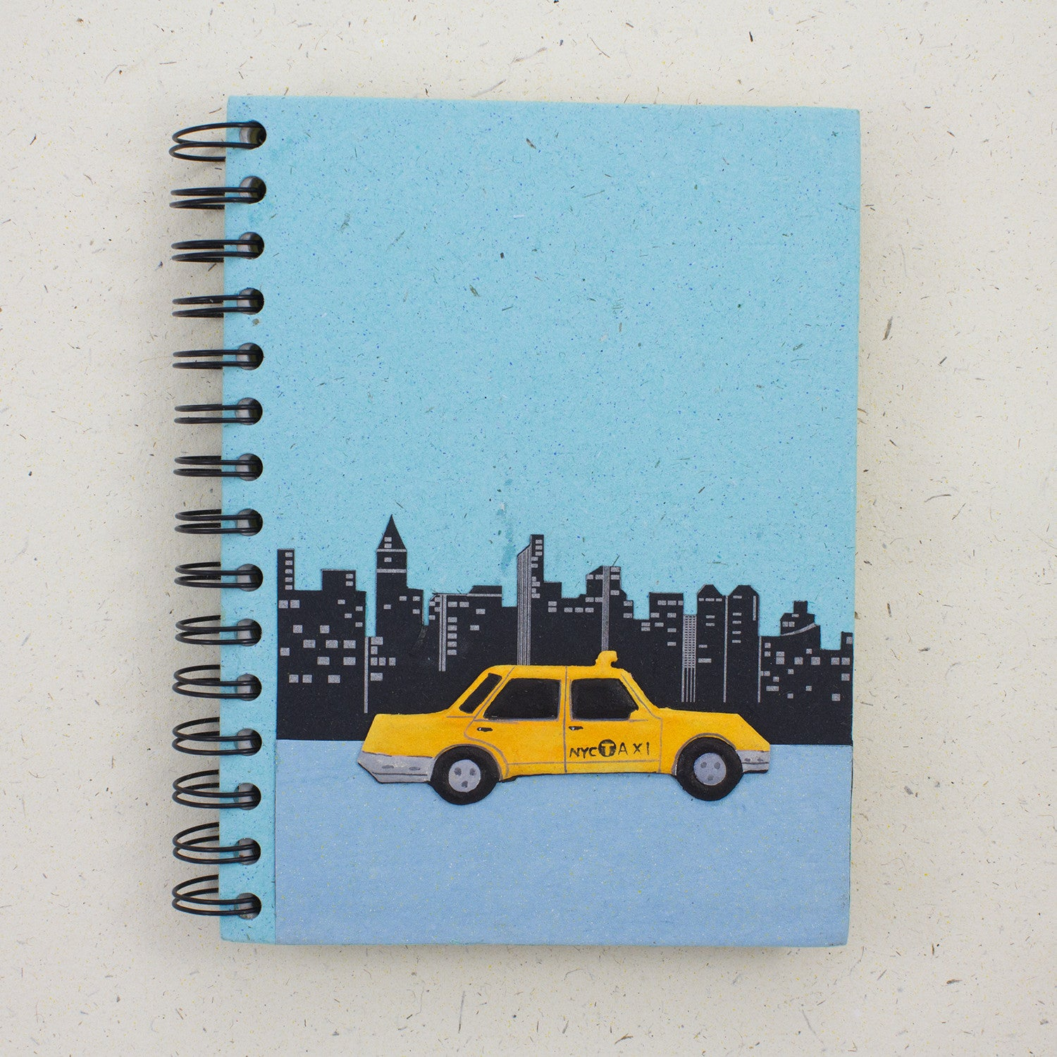 Large Notebook NYC Taxi Robin's Egg Blue