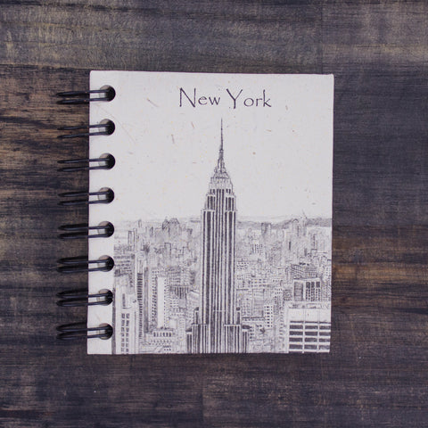 Small Notebook Empire State Building Sketch Natural White