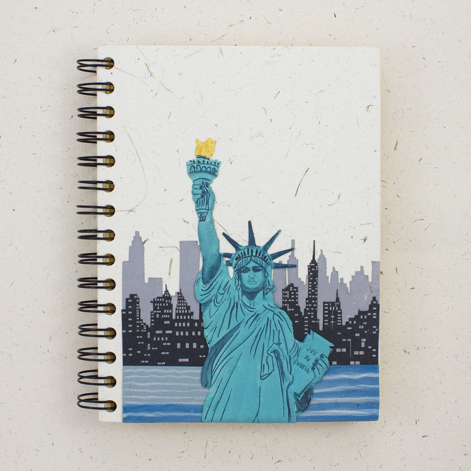 Large Notebook Statue Of Liberty Natural White