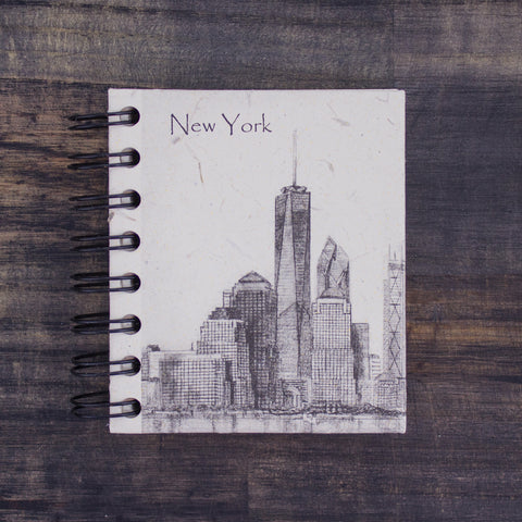 Small Notebook NYC Downtown Sketch Natural White