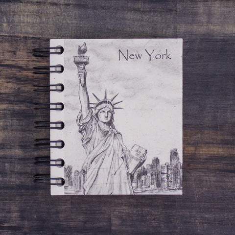 Small Notebook Statue Of Liberty Sketch Natural White
