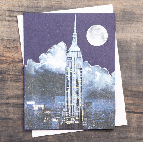 Single Greeting Card Empire State Night