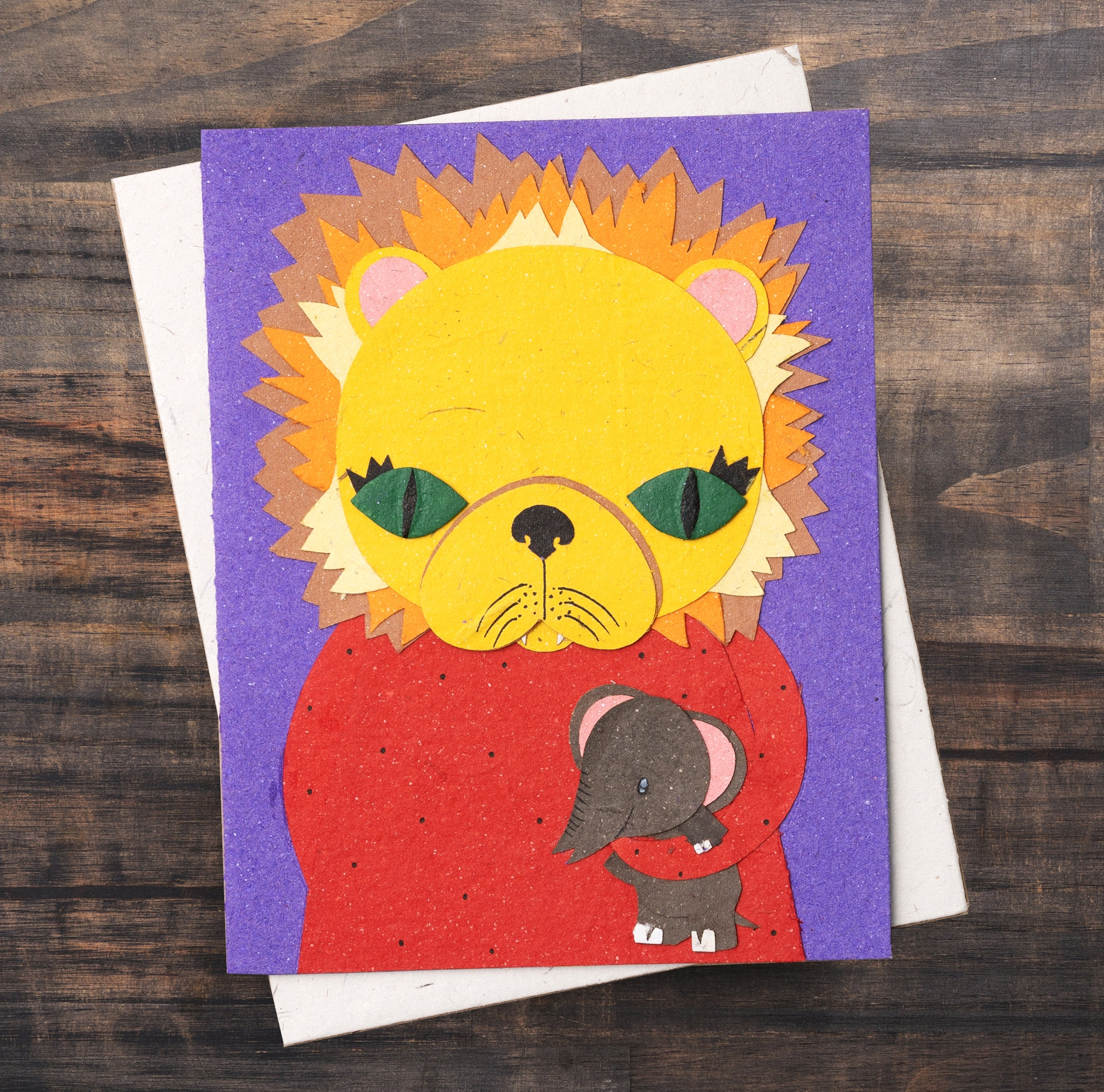 Single Greeting Card Leslie The Lion