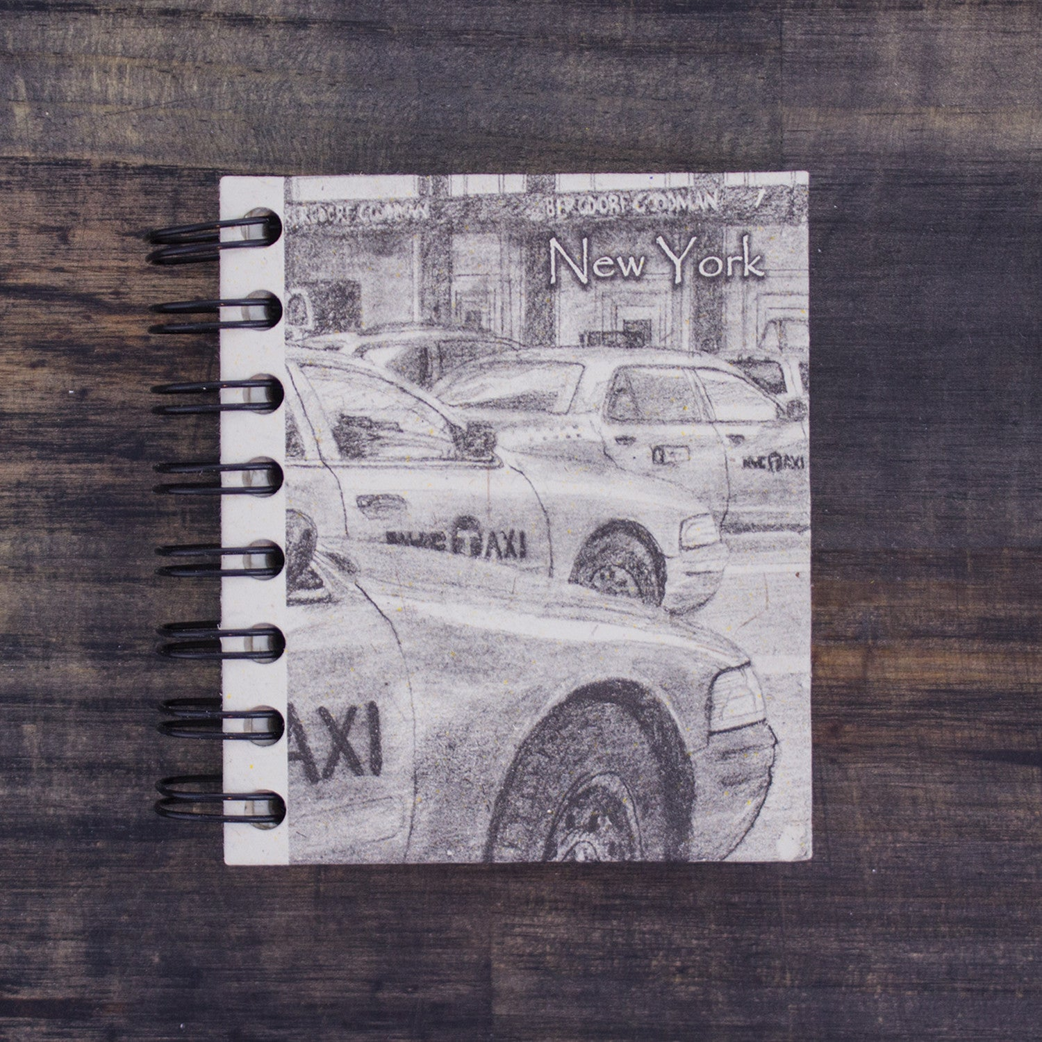 Small Notebook NYC Taxis Sketch