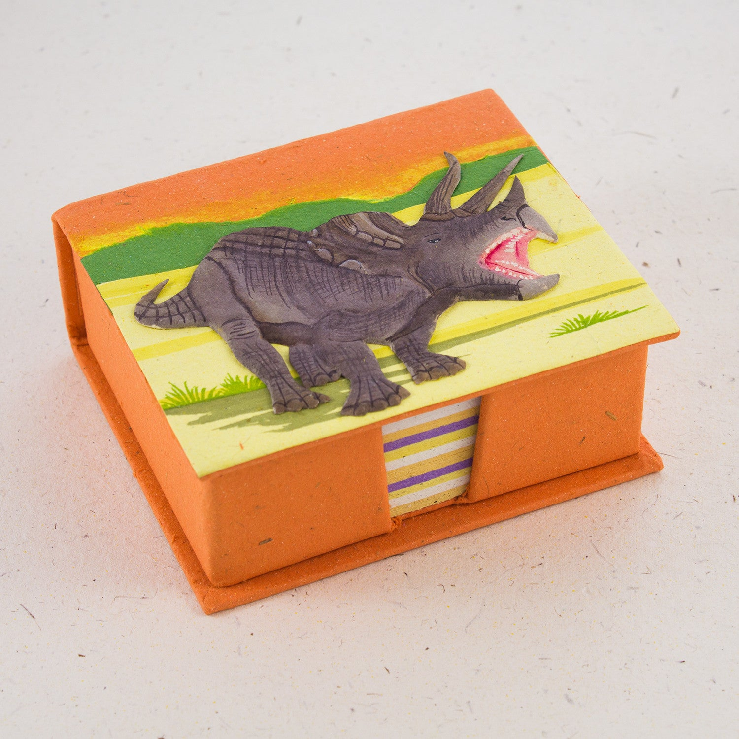 Note Box Triceratops Orange