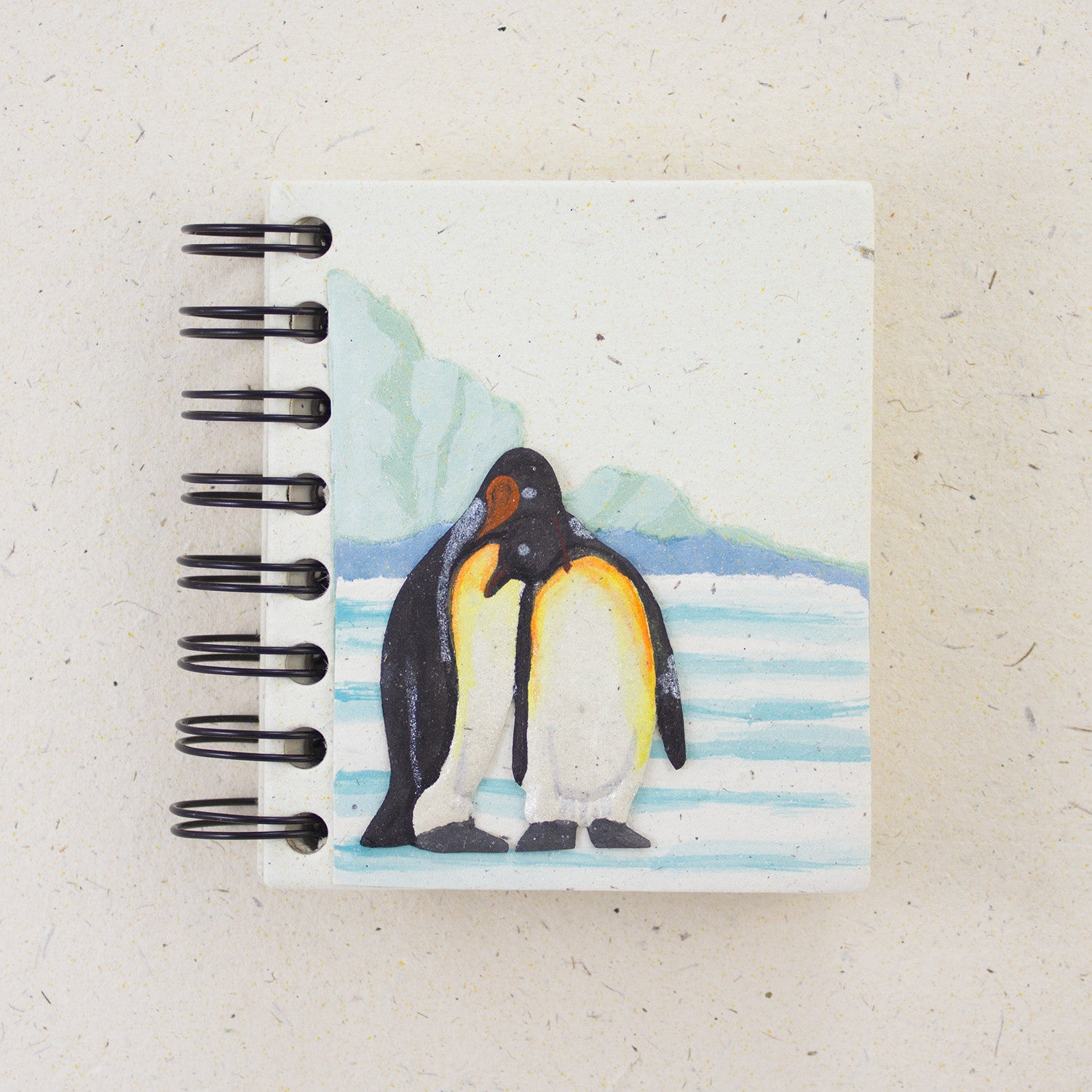 Small Notebook Penguins Natural White
