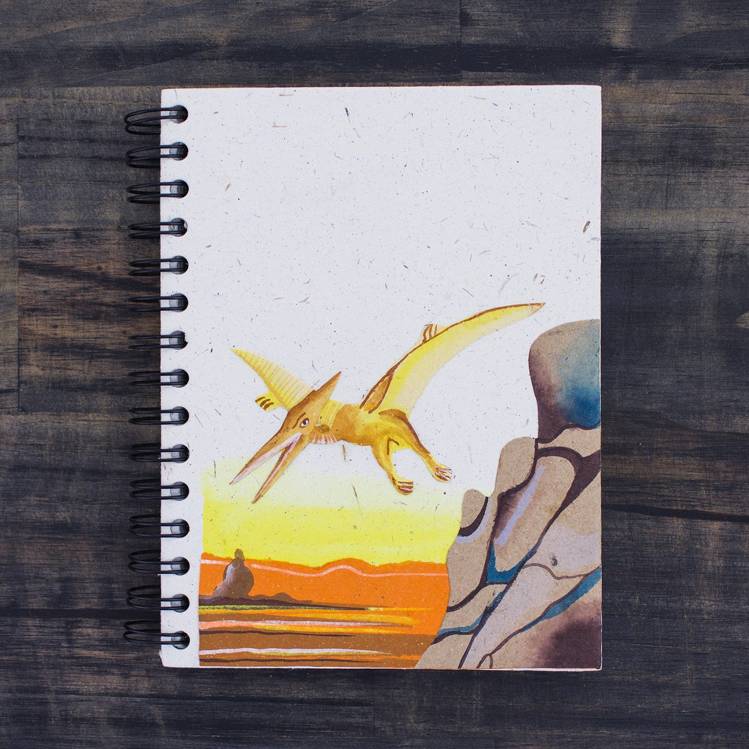 Large Notebook Pterodactyl Natural White