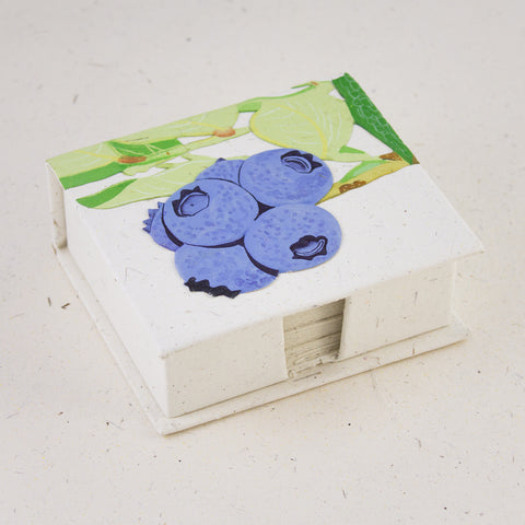 Blueberry Note Box with Notes