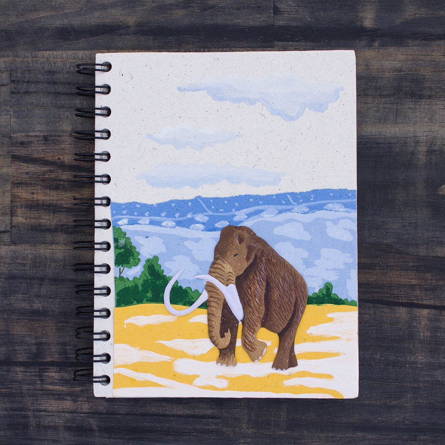 Large Notebook Woolly Mammoth Natural White