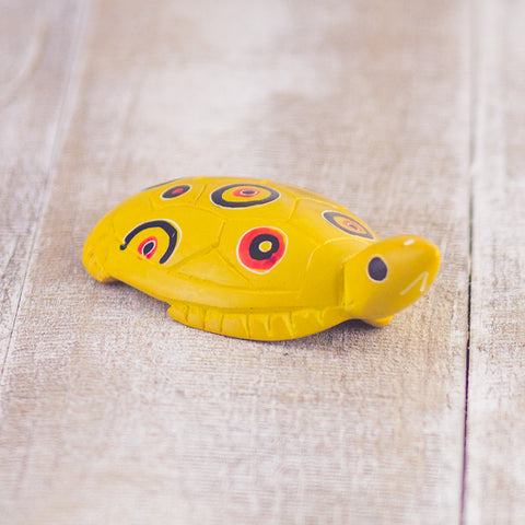 Soapstone Flat Turtle Yellow