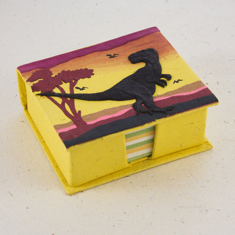 Note Box T-Rex Yellow