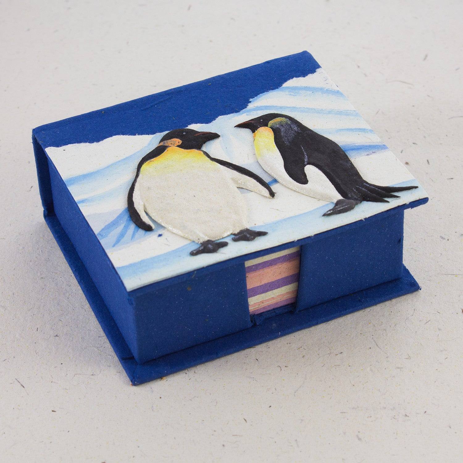 Note Box Penguins Dark Blue