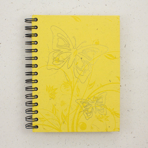Large Notebook Foiled Butterfly Yellow