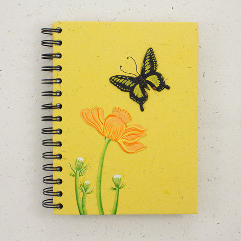 Large Notebook Butterfly Yellow
