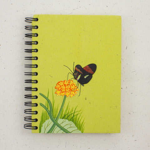 Large Notebook Butterfly Light Green